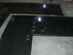 Black Natural Galaxy Granite Countertop for Floor Paving Tiles pictures & photos