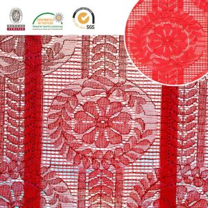 Fashion Red Lady Dress Lace Fabric 171 pictures & photos