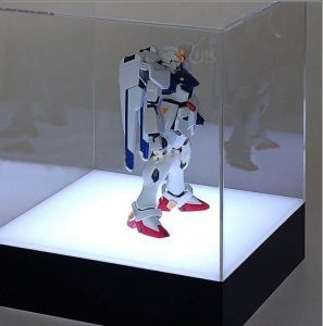 Customize Clear Color LED Light Illuminated Soccer Acrylic Display Box pictures & photos