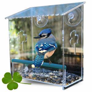 Factory Wholesale Hanging Acrylic Bird Feeder pictures & photos