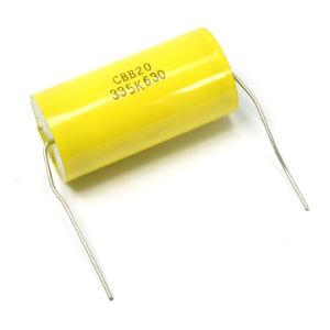 Cbb20 Yellow Axial Metallized Polypropylene Film Capacitor Tmcf20 pictures & photos
