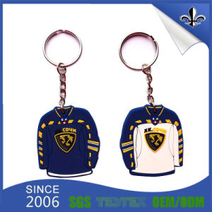 Promotional Products 3D Soft PVC Keychain with Metal Keyring pictures & photos