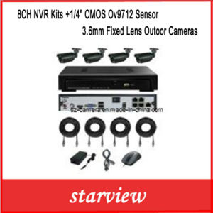 "8CH NVR Kits +1/4"" CMOS Ov9712 Sensor 3.6mm Fixed Lens Outoor Cameras pictures & photos"