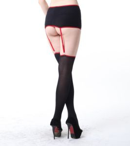 Ladies Sexy Suspender Tights with Garter Belt pictures & photos