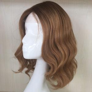 Long Blond Human Hair Monofilament Toupee pictures & photos