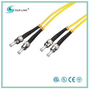 ST/PC-ST/PC Sm 9/125 Duplex 2m Fo Patch Cord pictures & photos