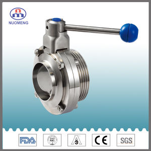 Sanitary Stainless Steel Manual Welded/Threaded Butterfly Valve (DN11850-1-No. RD1308) pictures & photos