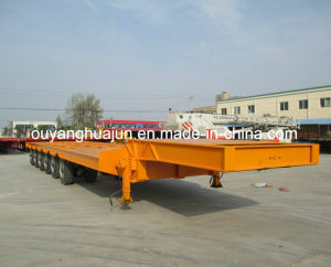 2 Axles Super Low Bed Flatbed Semitrailer pictures & photos