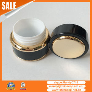 7g15g30g50g Cream Cosmetic Packaging Container Black Aluminum Jar pictures & photos