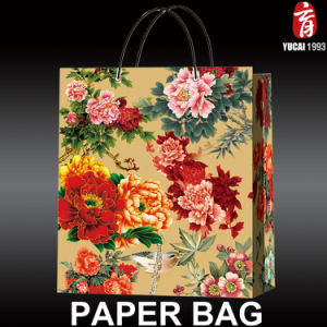 Flower Series 2017 Newly Designed Paper Shopping Bag pictures & photos