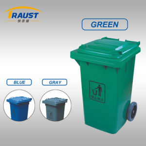 240L Large Wheels Plastic Garbage Bin with Lids pictures & photos