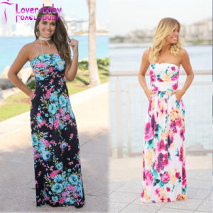 Irene off The Shoulder Printed Maxi Dress L5010 pictures & photos
