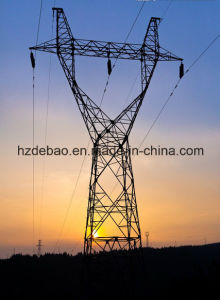 Customed Galvanized Steel Power Line Transmission Tower