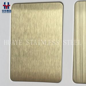 High Quality Bronze Gold Rose Gold Color Titanium Coated Stainless Steel Decorative Plate pictures & photos