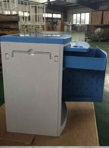 AG-Bc005 ABS Material Hospital Blue Color Bedside Cabinet pictures & photos
