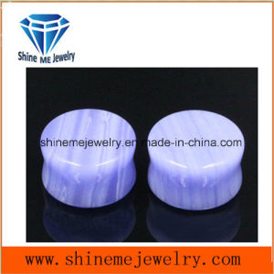 Shineme Body Piercing Brazil Purple Agate Jewelry Earplug pictures & photos