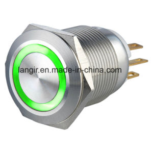 19mm Double Color Red/Green Ring LED Electric Metal Switch pictures & photos