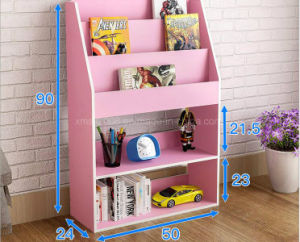 Magazine Wood Morden Floor Stand Shelf for Rack and Display (GA-0045) pictures & photos