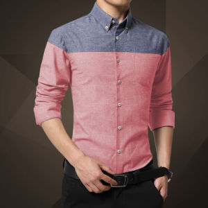Men′s Short Sleeve Grey Slim Fit Shirt New Design Pictures pictures & photos