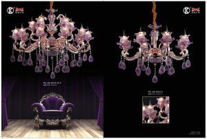 Purple Glaze Zinc Alloy Die Casting Chandelier Light pictures & photos