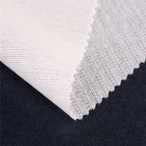 120GSM Bi-Stretch Woven Fusible Uniform Suits Brushing Interfacing Fabric Interlining pictures & photos