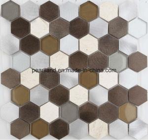 Aluminum Mosaic Tiles Stone Tile Matel Glass Tiles Decoration Kitchen Backsplash Bathroom Mosaic Wall Tiles pictures & photos