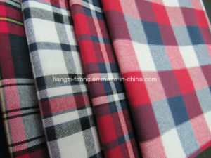 Yarn Dyed Cotton Flannel Fabric pictures & photos
