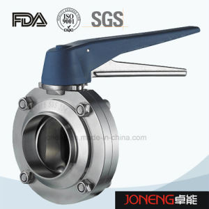 Stainless Steel Food Processing Manual Welded Butterfly Valve (JN-BV1010) pictures & photos