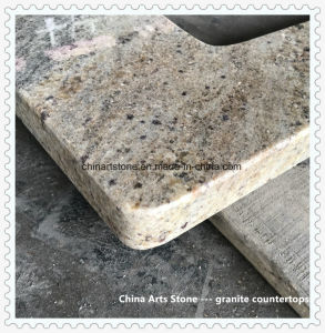 Golden Granite Countertop for Kitchen and Bathroom Project pictures & photos