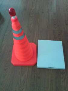Flexible LED Retractable Traffic Cone pictures & photos