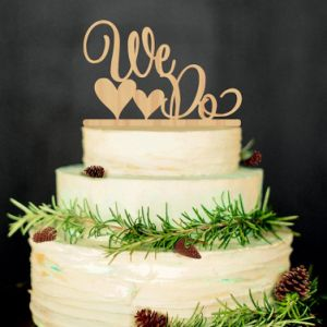 Wood Color Wedding Cake Topper We Do Wood Wedding Cake Decorations pictures & photos