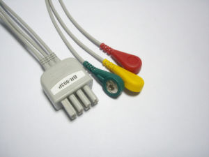 Nihon Kohden 8pin Snap&Clip Leadwire ECG Cable pictures & photos