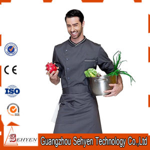 Supply 100% Breathable Boly/Cotton Chef Work Uniform with Pocket pictures & photos