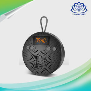 LCD Display Waterproof Shower Bluetooth Speaker with Alarm Clock TF FM Radio Aux pictures & photos