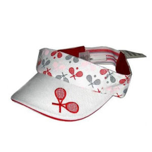 White Visor Cap with Printing (JRV050) pictures & photos