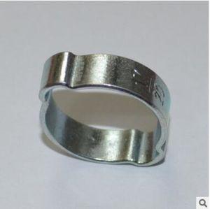 Zinc Plated Steel 2-Ear Clip Double Ear Hose Clamp pictures & photos