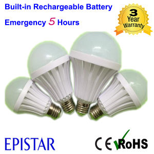 Built-in Rechargeable Battery 7W E27 Intelligent LED Emergency Bulb Light pictures & photos