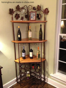 Vintage Delicate Metal Furniture Display Rack for Wine Storage pictures & photos
