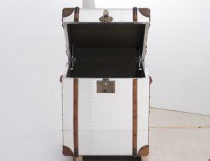 Vintage Trunk Cabinet, Antique Aluminum Side Table, Corner Table pictures & photos