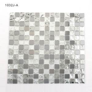 Samples Bathroom Backsplash Silver Mosaic Tiles Stained Glass pictures & photos