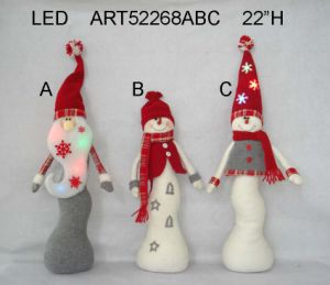 "22""H LED Santa and Snowman Christmas Decoration Light LED-3asst pictures & photos"