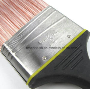High Quality Tapered Synthetic Filament Paint Brush with Angle Long Sash Rubber Plastic Handle pictures & photos