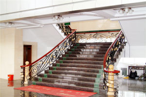 Haohan Customized Elegant European Australian Galvanized Steel Stair Handrail 1 pictures & photos