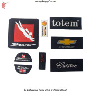 2015 New Soft PVC Rubber Label Patch Back with Magic Tape (YH-RL058) pictures & photos
