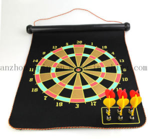 OEM Magnetic Foldable Flocking Toy Dart Dartboard Set pictures & photos