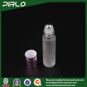 10ml Frosted Glass Roll on Bottle with Metal Roller and Red Cap pictures & photos