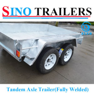 Economic 10X5FT Hot Dipped Galvaznied Heavy Duty Fully Welded Tandem Trailer pictures & photos