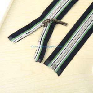 No. 5 Nylon Zipper O/E a/L with Colored Zipper Tape pictures & photos