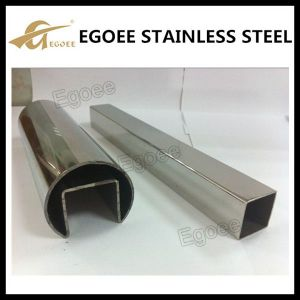 Brushed 304 Groove Stainelss Steel Tube for Hand Railing pictures & photos