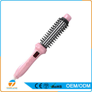 2 in 1 Fast Heated Waves Ceramic Coated Bristles Hair Rolling Comb Straightening Brush pictures & photos